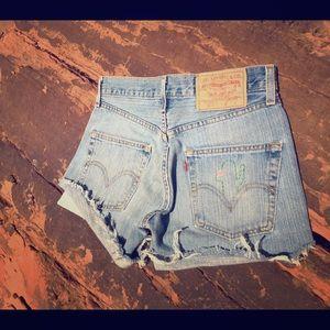 High Waist Levi's Jean Short